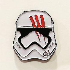 BLOODY FINN Force Awakens Stormtrooper Enamel Pin Star Wars for ...