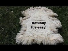 How to tan your own sheepskin rug at home.