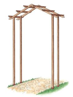 Parts of Simple Wooden Arch Made from Kit