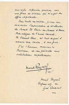 Lettre manuscrite de Marcel Pagnol 2 - Archives Nationales - AJ-16-6106 - Marcel Pagnol — Wikipédia