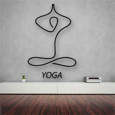 Free shipping Yoga Meditation Zen Abstract Decor Living Room Vinyl Carving Wall…