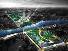 Project: Planning Design for Central Park and Waterfront Park of the New City Area, Foshan - IAPA PTY. LTD.