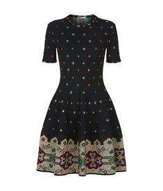 View the Flared Tapestry Dress by Alexander McQueen