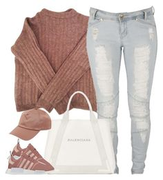 """""""1353 . Pink"""" by cheerstostyle ❤ liked on Polyvore featuring Acne Studios, Lee and Balenciaga"""
