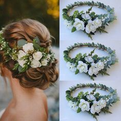White bridal headpieces Bridal Hair Vine by BellasBloomStudio