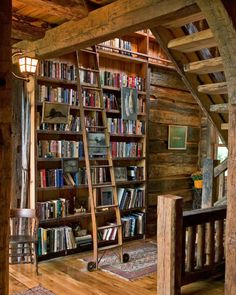 Trendy home library rustic shelves 52 ideas Rustic Bookcase, Rustic Shelves, Home Library Design, House Design, Cabana, Rustic Home Design, Home Libraries, Book Nooks, Reading Nooks