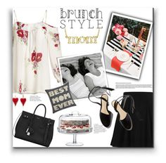 """Mother's Day Brunch Goals"" by katrina-byrd-jones on Polyvore featuring Joie, River Island, LSA International, Yves Saint Laurent, Alexandra Ferguson and Jennifer Meyer Jewelry"