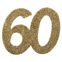 Birthday confetti glittering 60 years gold 6 – table confetti - New Sites Glitter Confetti, Floral Border, Deco Table, Border Design, 60th Birthday, Perfect Party, Quilling, Sparkle, Shapes