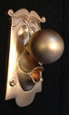 Alice in wonderland door knob! What a great idea for playroom door or nursery!