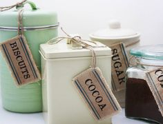 Set Of Ten Personalised Larder Labels by Betsy Jarvis