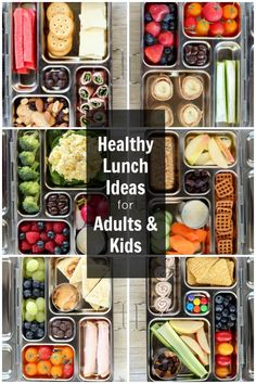 Healthy lunch Ideas for Kids and Adults - Use my printable recipe list to mix and match hundreds of lunchbox combinations. No heating necessary.