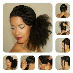 Penteados para cabelos crespos e cacheados: rabo de cavalo baixo