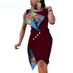 New Fashion African Dresses for Women Sexy Sleeveless Bazin Riche African Print Cotton Dress Lady Elegant Party Dresses Item Type: Africa Clothing Material: Cotton Type: Kanga Clothing Care: Dry Clean Size: African Fashion Ankara, Latest African Fashion Dresses, African Print Fashion, Africa Fashion, Short African Dresses, Short Dresses, African Wedding Attire, Elegant Party Dresses, Vestido Casual