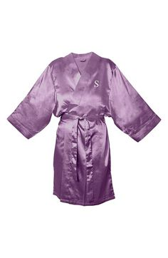 Women's Cathy's Concepts Personalized Satin Robe