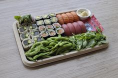 Healthy & Wellbeing - for those looking to eat clean but enjoy enjoy tasty heatlyh food, this platter is for you! aka our Brown Rice Sushi Platter!