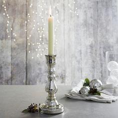 Mercury Dinner Candle Holder - Silver