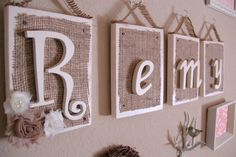 Remy blocks....sooo cute! love this wall name idea