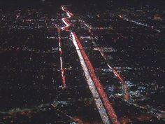 Thanksgiving travel chaos: Commuters trapped in 'nightmare' traffic jam in LA, aerial video reveals
