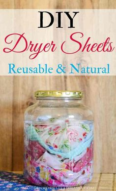 DIY Dryer Sheets - Reusable and Natural Homemade Laundry Products These DIY dryer sheets are simple, natural, and safe for sensitive skin. Ditch the store-bought dryer sheets for good! I've been wanting to make my own. Homemade Cleaning Products, House Cleaning Tips, Natural Cleaning Products, Cleaning Hacks, Diy Hacks, Natural Products, Cleaning Solutions, Diy Cleaning Cloths, Green Cleaning Recipes