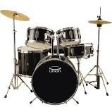 Union - UJ5 5-pc. Junior Drum Set with Hardware, Cymbals and Throne, Black - Drums + Percussion > Drum Sets