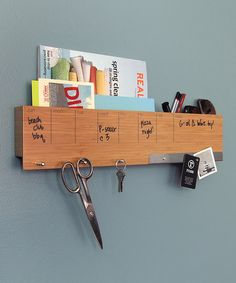 This Three by Three Seattle Bamboo Sort It Out! Wall Caddy by Three by Three Seattle is perfect!