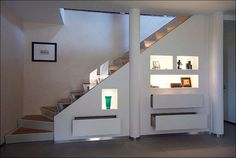 rangement sous escalier tiroirs #design #interiors #space