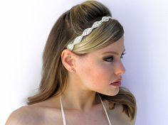 Bridal Crystal Headband Headpiece Tiara Halo with by Tatishotties, $120.00
