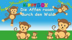 Die Affen rasen durch den Wald - Kinderlieder zum Mitsingen - (KIDDYBOX....