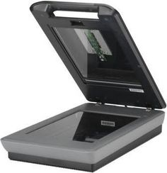 Flatbed scanner with an open lid