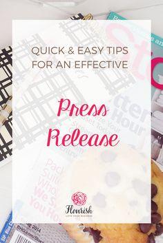 Easy Quick Tips For An Absolutely Successful Press Release Format #pressrelease #mediarelease #pr #diypr #publicrelations #getpress