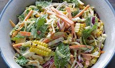 Yotam Ottolenghi's grilled sweetcorn slaw: perfect with his  southern fried chicken. Photograph: Colin Campbell for the Guardian