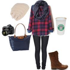 """Fall Weekend Outfit"" by brittney-bouchillon on Polyvore"