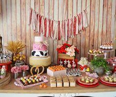 Sweet Table from a Girly Little Farm Birthday Party via Kara's Party Ideas | KarasPartyIdeas.com (23)