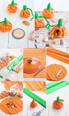Easy Pumpkin Treat Bag Kids Will Love to Make. A cute Halloween favor bags that's a great first sewing project for kids! Comida De Halloween Ideas, Halloween Candy Crafts, Halloween School Treats, Halloween Party Snacks, Halloween Favors, Halloween Crafts For Toddlers, Toddler Halloween, Fall Halloween, Halloween Treats