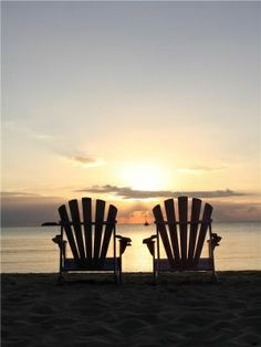Oceania Island Living: A sunset view I Love The Beach, Am Meer, Beach Scenes, Ocean Scenes, Beach Chairs, Beautiful Beaches, Beautiful Sunset, Seaside, The Best