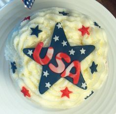 4th of July cupcake made by 350 Classic Bakeshop at Mamaroneck , NY