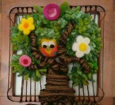 SANTIAGO - Arte Terapia Telar ÁRBOL de la VIDA Tapestry Weaving, Loom Weaving, Wall Tapestry, Hand Weaving, Yarn Thread, Ribbon Art, Sewing Art, Weaving Patterns, Felt Art