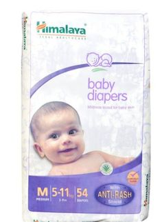 Himalaya Baby Diaper Medium Pack of 54 @ Rs.424  Snapdeal