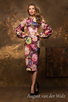 """Spring-summer with super stylish design from my collection """"Smell of summer"""" stylish and trendy women's casual dress. Bodycon Midi dress with f. Floral Sheath Dress, Ladies Dress Design, Casual Dresses For Women, Evening Dresses, Spring Summer, Stylish, My Style, Trending Outfits, Womens Fashion"""