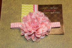coral pink white chiffon lace flower heart by CraftyAshBowsnMore, $7.00