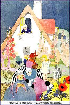Volland--Cozy Cottage in Cozyland--Vintage Illustration--Janet Laura Scott