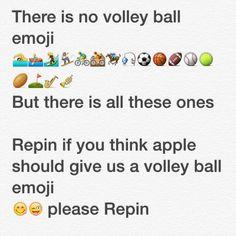 We need a volley ball emoji