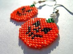Jack o Lantern Beaded Dangle Earrings by fantasybeader on... | Shop fashion, accessories,luxury| Kaboodle