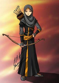 My first arrow #hijabies #hijab #archery #arrow