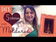 5 IDEIAS COM MOLDURAS , DIY por Camila Camargo