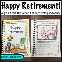 Retirement ~ Happy Retirement! A gift from the class for a retiring…