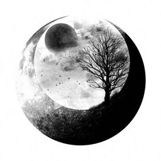 Moon and landscape tattoo tattoo idea inspiration ink pretty geometric space cos. - The Best Geometric Space Tattoos - Planet Tattos Ideas Wolf Tattoos, Body Art Tattoos, Tattoo Drawings, Small Tattoos, Henna Tattoos, Tattoos Pics, Tattoo Art, Tatoo Tree, Tattoo Mond