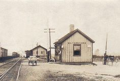 michigan railroad depots | Photo from an early 1900s postcard mailed from Waterford, Michigan.