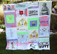 T Shirt Quilts: Cassandra's Cuddle T-Shirt Quilt - Fun Side