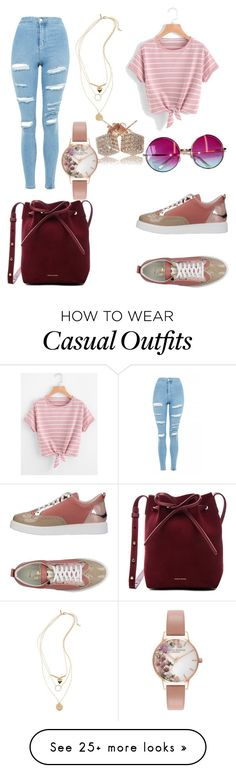 """""""casual"""" by lulipop26 on Polyvore featuring L4K3, Topshop, Mansur Gavriel, Janis and Olivia Burton"""